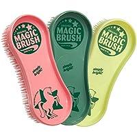 Magic Brush Pflegeset 3 tlg. Bürstenset für Pferde, für Fell Huf Bein Pferdebürste Putzzeug