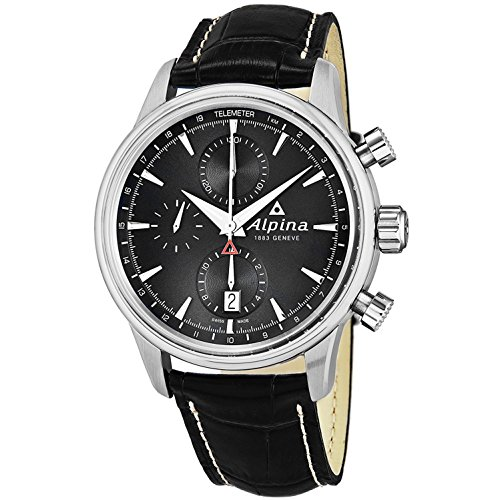 Alpina Men's Alpiner 41.5mm Leather Band Steel Case Automatic Watch AL-750B4E6