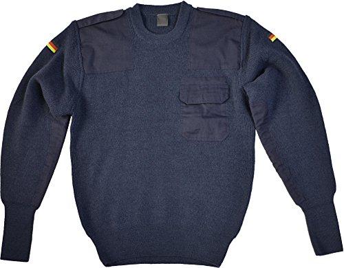 normani Bundeswehr Pullover mit Brusttasche nach TL der BW Farbe Blau Größe 50