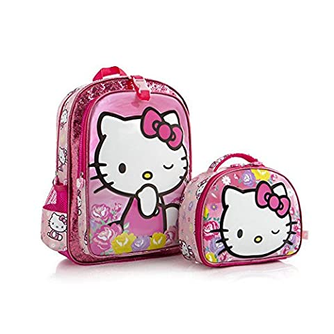 Heys Hello Kitty Backpack/Lunch Bag Unique Character Designed Kids Backpacks 15