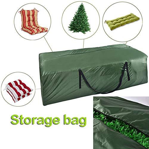 Silvotek borsa per cuscino da esterno - borse di stoccaggio per esterni 210d durevoli, borsa da campeggio con cuscino per giardino con cerniere e grande capacità 173cm x 76 cm x 51 cm