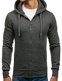 BOLF – Sweatshirt – coton – capuche réglable – sportif – deux poches – Homme 1A1
