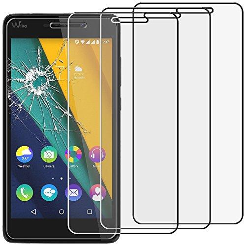 ebestStar - Wiko Pulp Fab 4G Panzerglas x3 Schutzfolie Glas, Schutzglas Bildschirmschutz, Bildschirmschutzfolie 9H gehärtes Glas [Phone: 155.4 x 79.3 x 8.5mm, 5.5'']