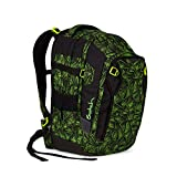 Satch Match Green Bermuda, ergonomischer Schulrucksack, erweiterbar auf 35 Liter, extra Fronttasche, Schwarz/Grün