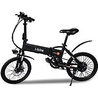 """i-Bike Fold, Bicicletta Ripiegabile Elettrica con Pedalata Assistita Uomo, Nero, 20"""""""