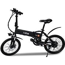 i-Bike Bicicleta eléctrica Plegable con Pedales asistidos, Hombre, Negro, ...