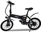 i-Bike i-Fold, Bicicletta Ripiegabile Elettrica con Pedalata Assistita Uomo, Nero, 20'