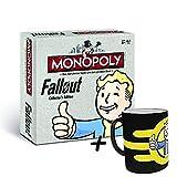 Fallout Monopoly Collector's Edition (deutsch) Brettspiel Gesellschaftsspiel Spiel (+ Zaubertasse Vault Boy)