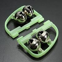 MaMaison007 Pesca campane campanelli di allarme luminoso in acciaio inox canna da pesca - Campana Skateboard