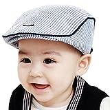 Hunpta Niedlichen Baby Säugling Junge Mädchen Streifen Barett Kappe Spitzen Baseball-Mütze (Blau)