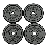 PROIRON Cast Iron Weight Plates Set 1.25kg,2.5kg,5kg,10kg (Choice of Sizes) for 1' Dumbbell Handle...