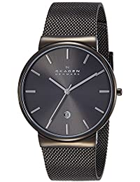 Skagen Herren-Armbanduhr Analog Quarz Leder SKW6108