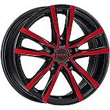 MAK Milano Negro Y Rojo 6,5x 16ET455X 108Hub Llantas de aleación de diámetro 72