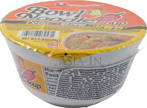 Nong Shim Spicy Chicken Pollo, Becher 86g plus Original Asia-In Langkorn Duftreis aus Thailand (100g)