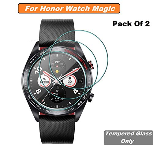 Iloft High Definition Ultra Clear Tempered Glass Screen Protector for Huawei Honor Watch *** Smartwatch (Pack of 2)