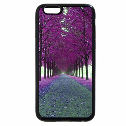 iPhone 6S / iPhone 6 Case (Black) Bright Pink Covered Path