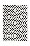 Teppich Wohnzimmer Carpet Geometrie Design Lina 500 Rug Rauten Muster Polypropylen 200x290 cm Beige/Teppiche günstig online kaufen