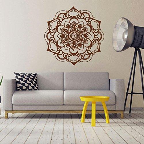 JIANGFU Mandala Muster Wand Aufkleber,Mandala Blume Indische Schlafzimmer Wohnzimmer Wandaufkleber Aufkleber Kunst Mural Home (Männer Indische Für Kostüme Halloween)