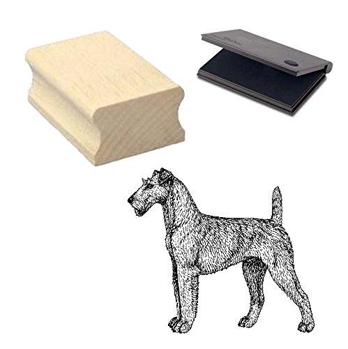 « Terrier irlandés » Diseño sello con cojín Scrapbooking-Embossing-Manualidades-Perro