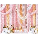 Life Glow appeso riutilizzabile del trifoglio del Quattro-Foglio Garland (3.6M Lungo ciascuno) -Tissue fiori di carta, carta velina Garland, Independence Day Decoration, decorazione Wedding, decorazione del partito, carta velina, carta velina fiori Kit, Ghirlanda Craft, set di 6 (rosso)