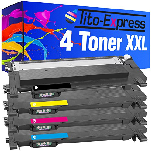 Tito-Express PlatinumSerie 4 Toner XXL kompatibel mit Samsung CLT-404S Xpress C430 W C430 Series C480 W C480 FN C480 FW C480 SL-C430 SL-C430 W SL-C430 SL-C480 W SL-C480 SL-C480 FW SL-C480 FN -