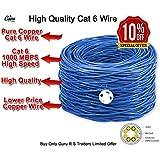 Guru RJ45 Cat 6e Pure Copper Wire - Blue And White (100 Meter)