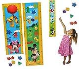 3-D meßlatte Mickey Mouse–autoadesiva, con 4–Impermeabile–Stadia Disney Mouse cameretta da parete adesivo adesivi pop-up