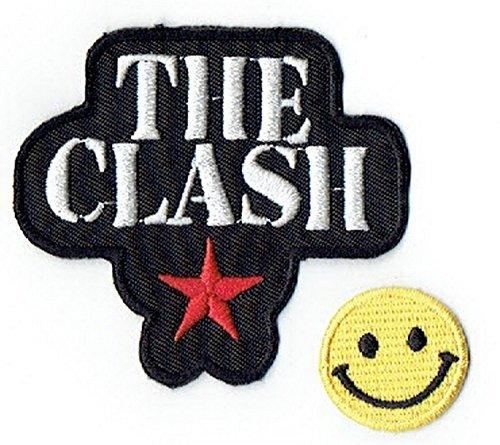 THE CLASH : an English punk rock music band apliques bordado hierro en parches with Yellow Tiny Smiley Patches by PATCH CUBE