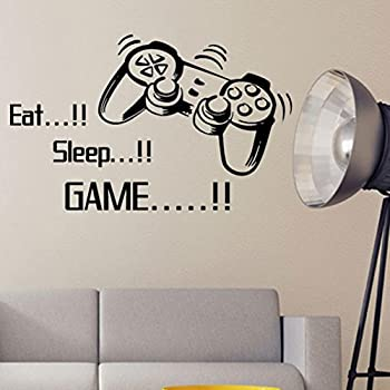 Eat Sleep Game Wall Stickers Boys Bedroom Art Letter DIY Kids Living Room  Decoration Home Decor