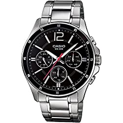 Casio Enticer Black Dial Men's Watch - MTP-1374D-1AVDF (A832)