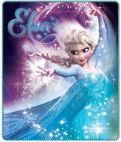Disney Frozen Kuscheldecke Die Eiskönigin Anna und Elsa - Fleecedecke Decke 120 x 140 cm Trendstern...