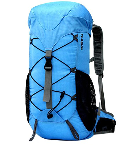 ZHANGOR Mountaineering Backpack Travel Backpack Waterproof Outdoor Sports Backpack Mountaineering Camping Fishing Tourism Cycling Skiing, Blue