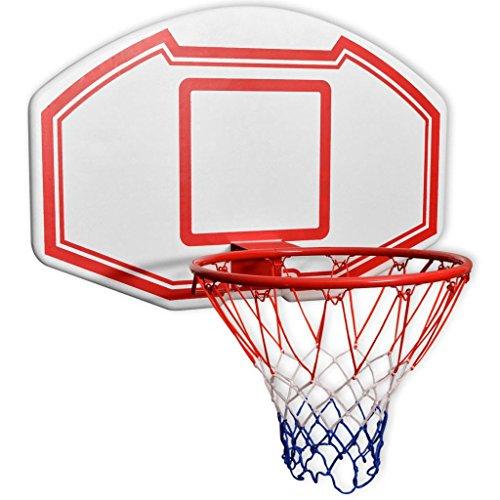 vidaXL Basketballkorb-Set mit Basketball Korb 3-TLG. Wandmontierbar 90 x 60 cm