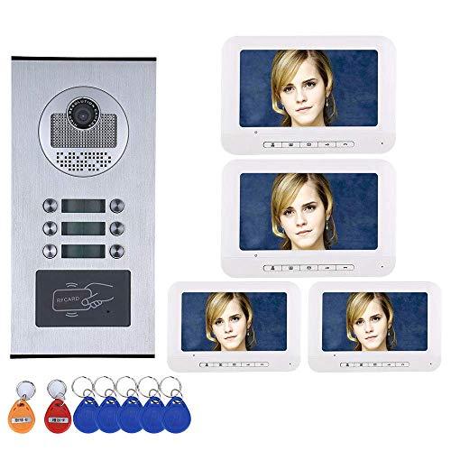GJR-MENGLING HD 1000TVL Kamera 7 Zoll intelligente Video-Türklingel/Home-Video-Türe-Intercom-System Home Intercom-systeme