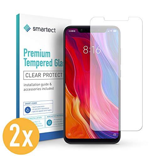 smartect Panzerglas für Xiaomi Mi 8 [2 Stück] - Bildschirmschutz mit 9H Härte - Blasenfreie Schutzfolie - Anti Fingerprint Panzerglasfolie