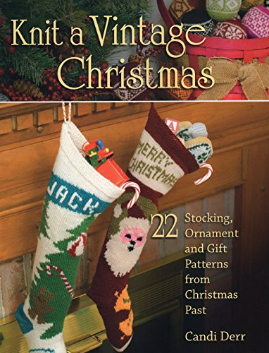 Knit Vintage Christmas Stocking Ornament