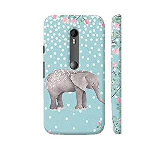 Colorpur Moto G Turbo Cover - Elephant Animal Illustration Watercolor Case