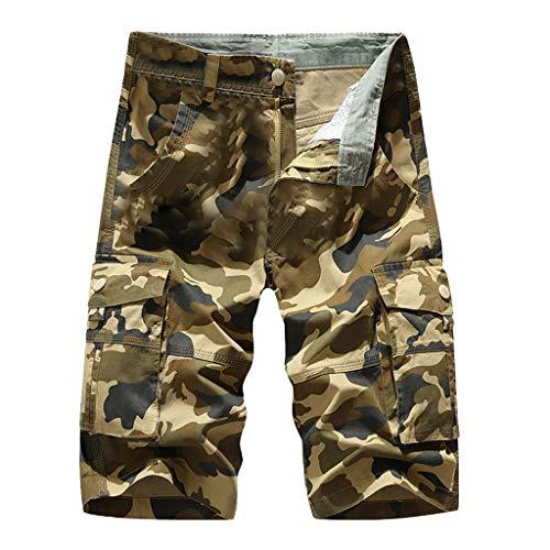 zarupeng✦‿✦ Moda Hombres Verano Aire Libre Casual Camuflaje Sueltos Monos Deportivos Cortos Pantalones