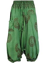 Guru-Shop Goa Pluderhose, Hare Krishna Mantra Aladinhose, Herren, Viskose, Size:48, Männerhosen Alternative Bekleidung