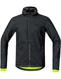 GORE BIKE WEAR Soft Shell Chaqueta, Hombre para ciclismo en carretera o MTB, GORE WINDSTOPPER, ELEMENT URBAN Jacket, Talla L, Negro, JWMELE