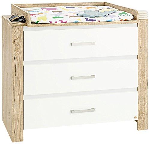 Pinolino 130056b cambiador candeo de ancho decoración roble con madera truktur y uni, color blanco