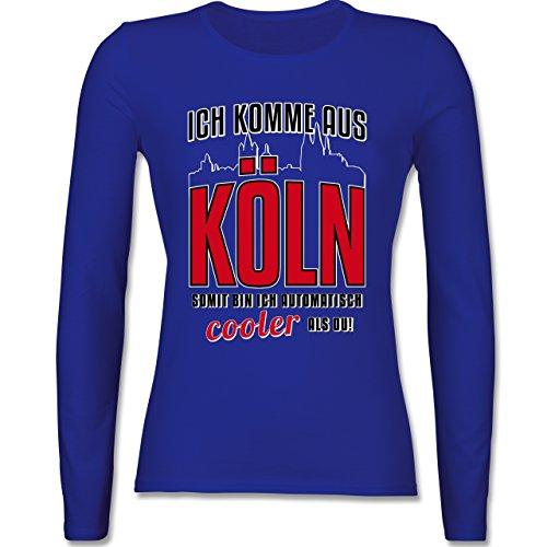Städte - Ich komme aus Köln - tailliertes Longsleeve / langärmeliges T-Shirt für Damen Royalblau