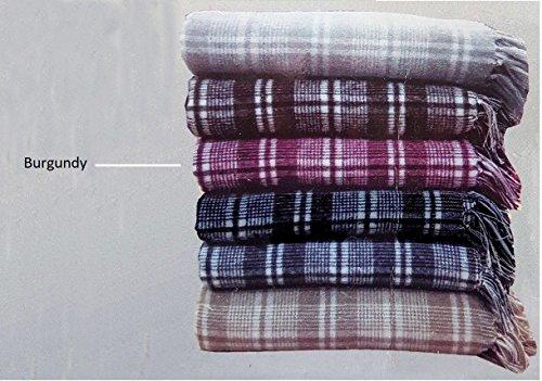 Manta sofá, diseño Cuadros, 100% algodón, Manta