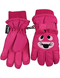 N 'Ice Caps Kids Cute Animal caras frío Thinsulate – Guantes impermeables