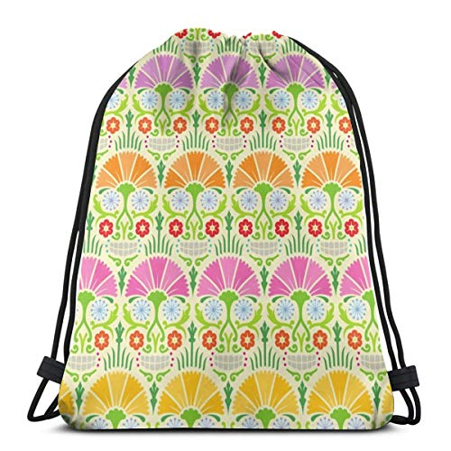 ht_10904 Rucksack mit Kordelzug Rucksack Schultertaschen Leichte Sporttasche zum Wandern am Strand von Yoga Gym Swimming Travel ()