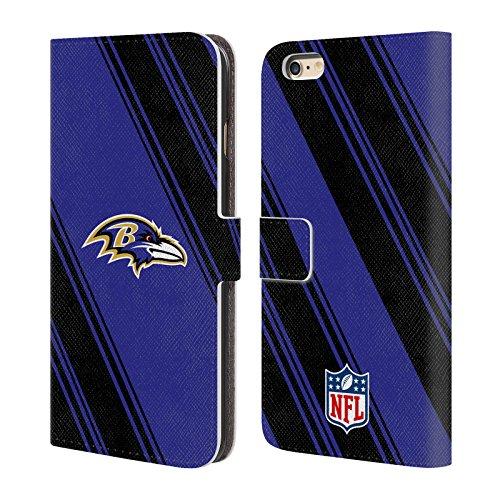 Ufficiale NFL Marmo 2017/18 Baltimore Ravens Cover a portafoglio in pelle per Apple iPhone 6 Plus / 6s Plus Righe