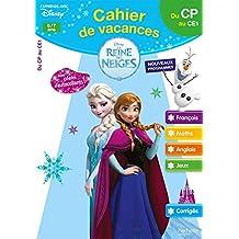 Cahier de vacances la Reine des Neiges du CP au CE1 - Cahier de vacances