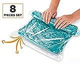 StillCool 8 Sac Compression Voyage - Pas Besoin de Pompe - Sacs de Rangement pour Vêtements - Sacs d'emballage Réutilisables - Accessoires de Voyage Sacs de Compression pour Bagages