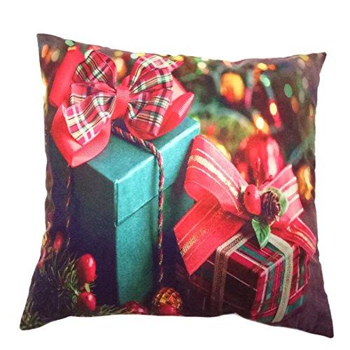 Charberry Père Noël Taie d'oreiller Canapé Taille Throw Housse de coussin, Tissu super doux, G, Size: 45cm*45cm