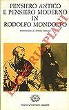 Pensiero antico e pensiero moderno in Rodolfo Mondolfo.